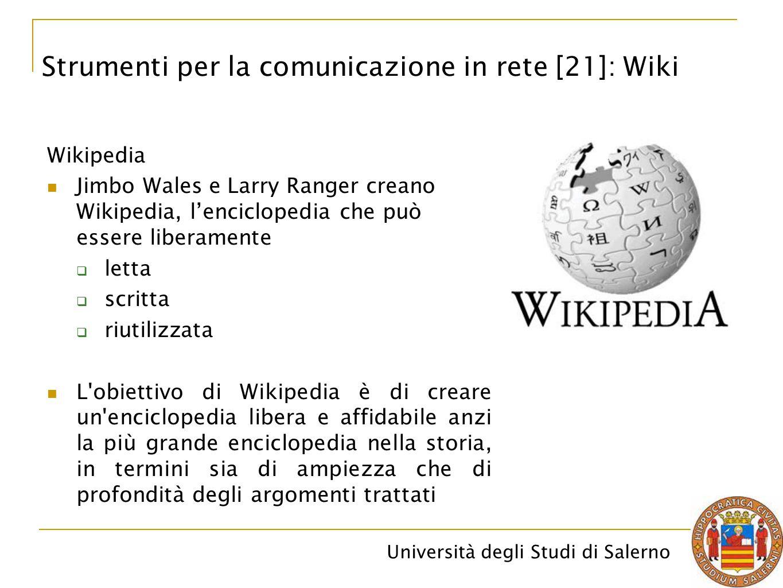 Strumenti per la comunicazione in rete [21]: Wiki
